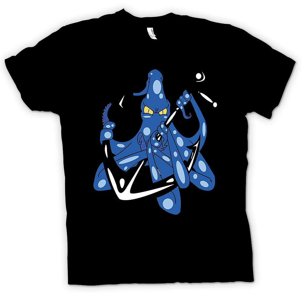 Mens T-shirt - Octopus Anchor Navy Tattoo