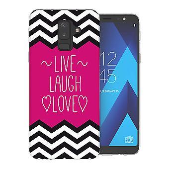 Samsung A6 Plus (2018) Live Laugh Love Herz TPU Gel Fall