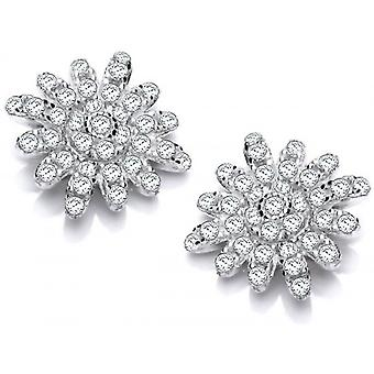 Cavendish French Starburst Daisy Earrings - Silver