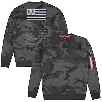 Alpha industries men's sweatshirt blood chit print