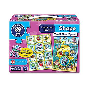 Orchard Toys Look and Find Shape Jigsaw - 2 in a box
