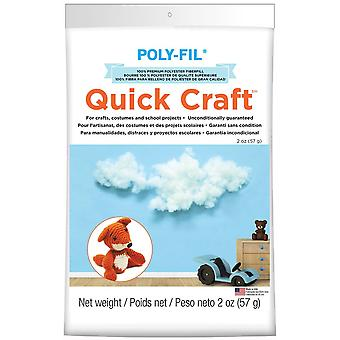 Poly-Fil Quick Craft Premium Polyester Fiberfill-2oz