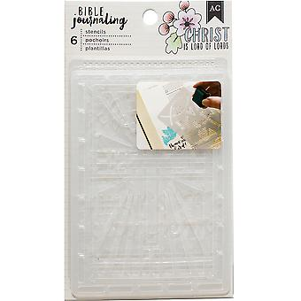 American Crafts Bible Journaling Stencils 4