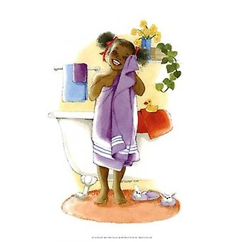 Bath Time Giggles (Girl) Poster Print by Sylvia Walker (8 x 10)