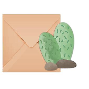 Lama Cactus party invitation cards 6 piece children birthday theme party
