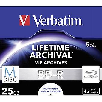 Blank M-Disc Blu-ray DVD 25 GB Verbatim 43823 5 pc(s)
