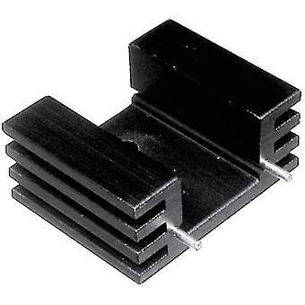 Fin heat sink 12.5 C/W (L x W x H) 25 x 32 x 20 mm TO 220 ASSMAN