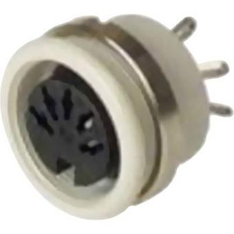 DIN connector Socket, vertical vertical Number of pins: 3 Grey Hirschmann MAB 3100 S 1 pc(s)