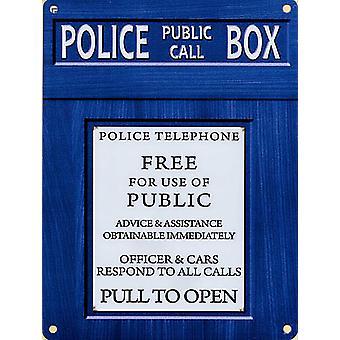 Police Box Metal Sign 400Mm X 300Mm