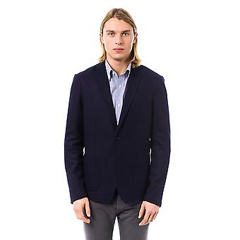 Blazer Navy Blue Bergamo Trussardi Collection Man