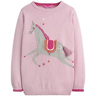 Joules Girls Meryl Artwork Antarsia Cotton Mini Me Jumper