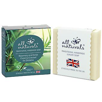 All Naturals Organic Diabetic Soap  Rosemary and Horse Chestnut 100g