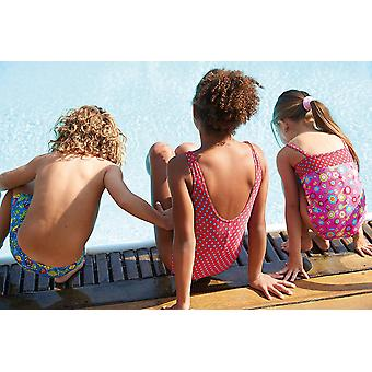 Zoggs Spot Scoopback Swimsuit Red