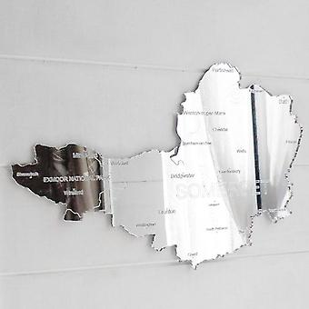 County Map of SOMERSET UK Engraved Acrylic Mirror