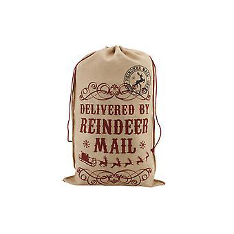 Vintage juty dostarczane przez worek Mail renifer