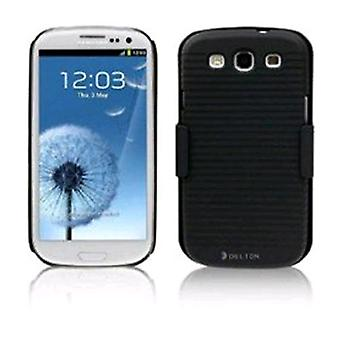 Delton Shell Holster Combo Case with Kickstand & Belt Clip for Samsung Galaxy S3