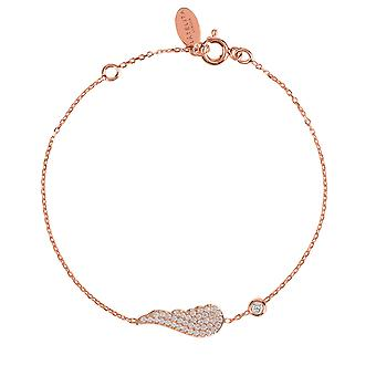 Latelita Sterling Silver Guardian Angel Wing Delicate Bracelet Charm Rose Gold