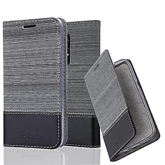 Cadorabo case for OnePlus 6 - cell phone case with stand function and compartment in the fabric design - case cover sleeve pouch bag book