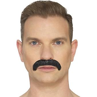 The Horseshoe Moustache, Black, Hand Knotted