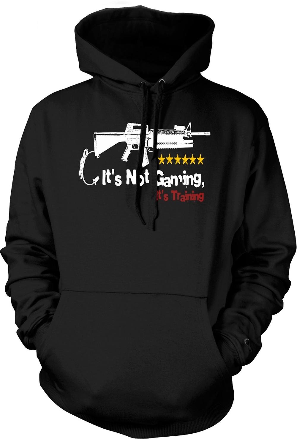 Mens Hoodie - It's Not Gaming It's Training - Funny