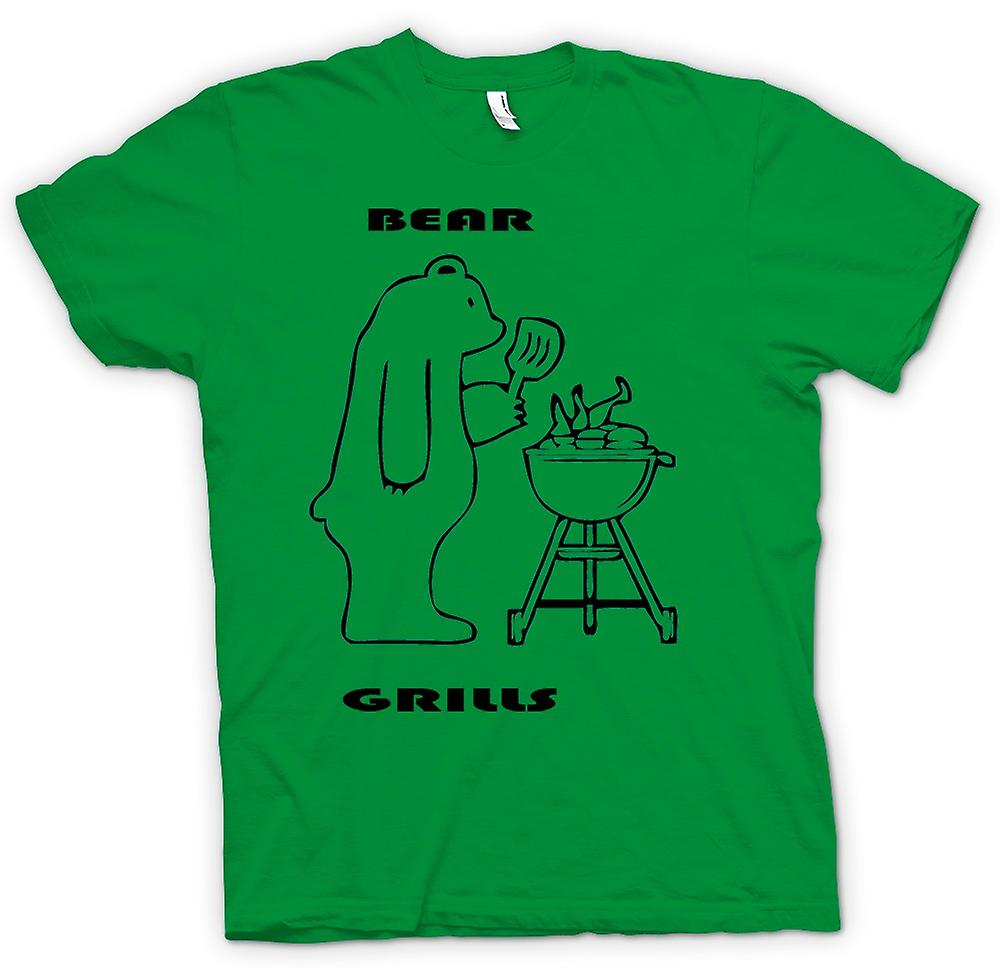 Mens T-shirt - Bear Grills - Quote