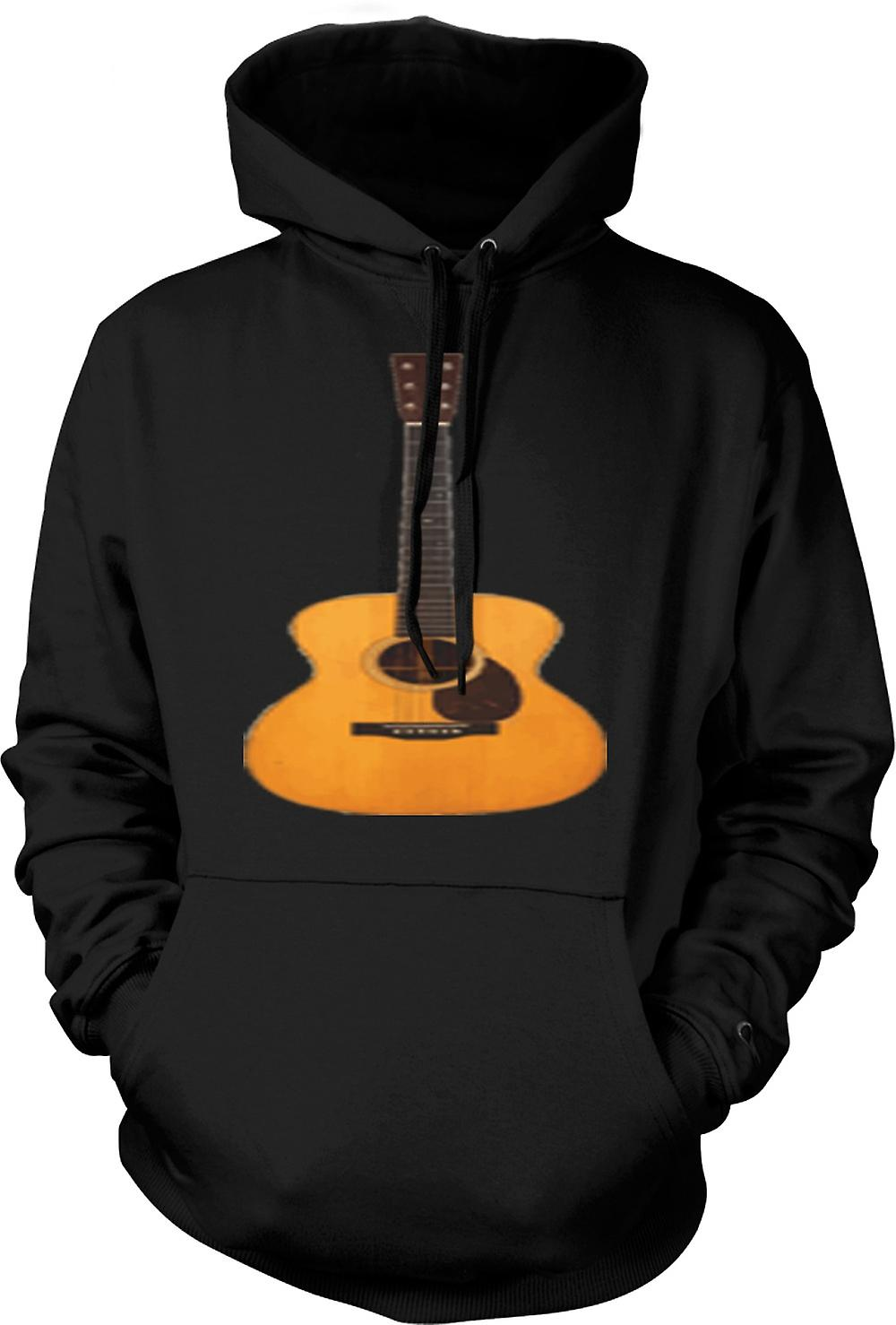 Mens Hoodie - Acoustic Guitar Rock & Roll