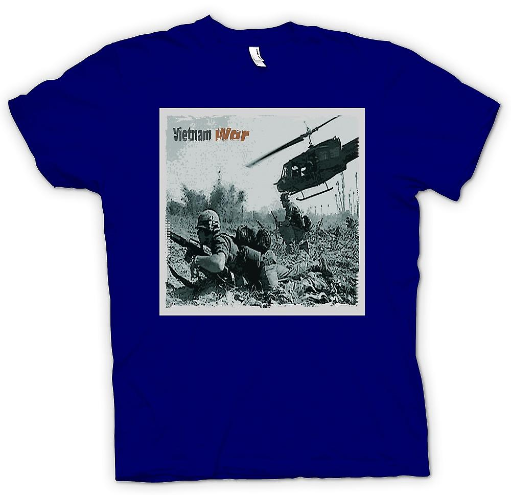 Mens T-shirt - Vitnam War - Action Photo