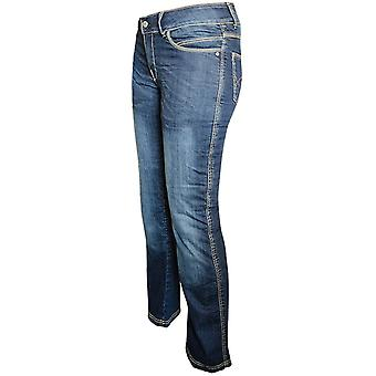 Bull-It Blue Vintage Easy SR6 - Short Womens Motorcycle Jeans