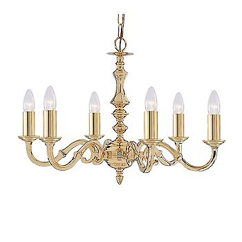 Searchlight 2176-6NG Seville 6 Light Ceiling Pendant