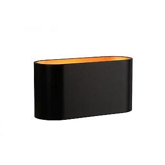 Lámpara de pared negro de aluminio Oval moderno Lucide Xera