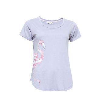 Cyberjammies 4120 kvinners Zara rosa Flamingo ut Pyjama toppen