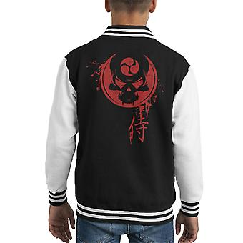 Samurai Death Skull Kid's Varsity Jacket
