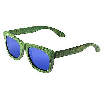 Spektrum Slater Holz polarisierte Sonnenbrille - grün/blau