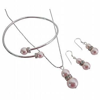 Zinnelijke sieraden Delicate Rosaline ketting oorbellen armband