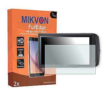 Canon PowerShot SD3500 IS screen protector - Mikvon FullEdge (screen protector with full protection and custom fit for the curved display)