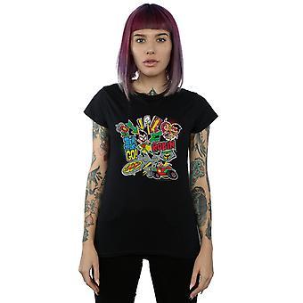 DC Comics Women's Teen Titans Go Robin Montage T-Shirt