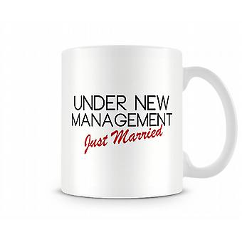 Management Just Married Printed Text Mug