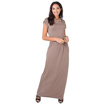 KRISP  KRISP Turn Up Batwing Sleeve High Waist Long Jersey Maxi Dress Party Summer 3269