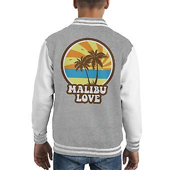 Malibu Love Retro Sunset Kid's Varsity Jacket