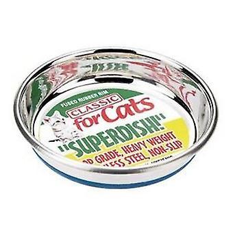 古典的なノンスリップ猫ステンレス Superdish