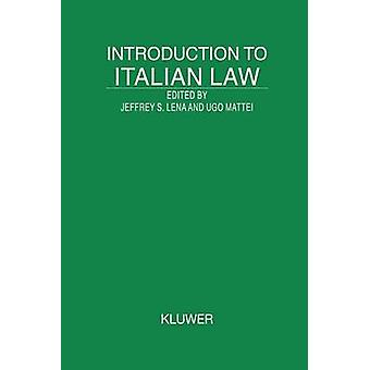 Introducción al derecho italiano por Lena y Jeffrey S.
