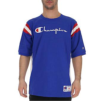 Champion Blue Cotton T-shirt