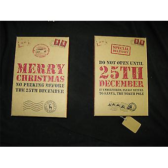 Assorted Size Craft Style Retro Look Gift Boxes Fun Message Christmas Pack of 21 (XM2024)