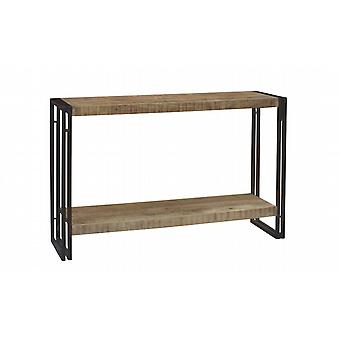 Maison Industrial Metal & Wood Console Table