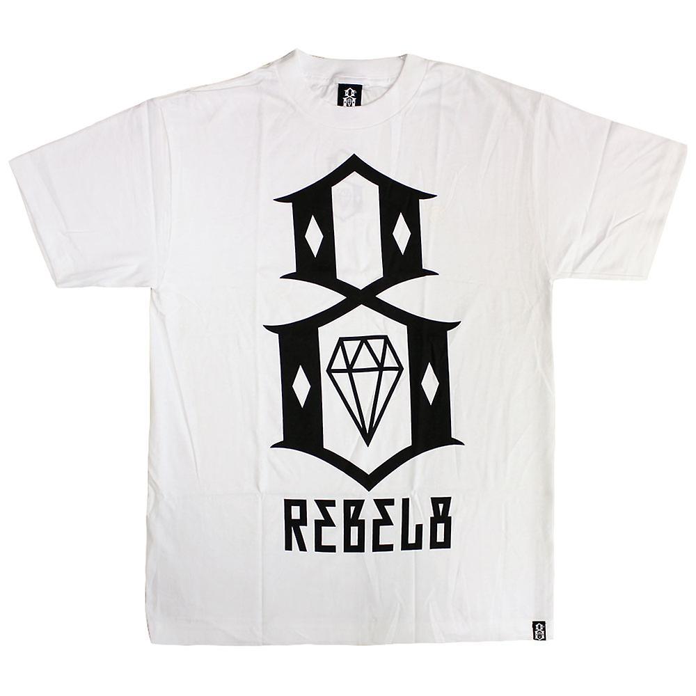 Rebel8 Logo camiseta blanco