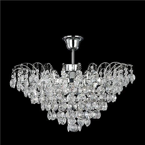 Searchlight 9070-48CC Limoges 3 Light Chrome Semi Flush Crystal Pendant