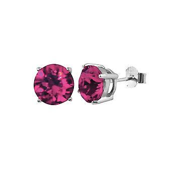 Evig samling Starlet Sterling sølv Fuchsia rosa østerrikske Crystal kabal Stud øredobber