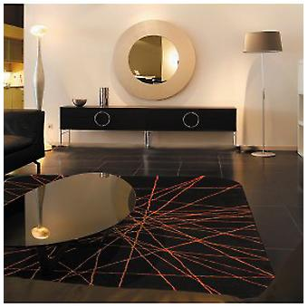 Rugs -iDesign - ID113 Dark Chocolate & Orange