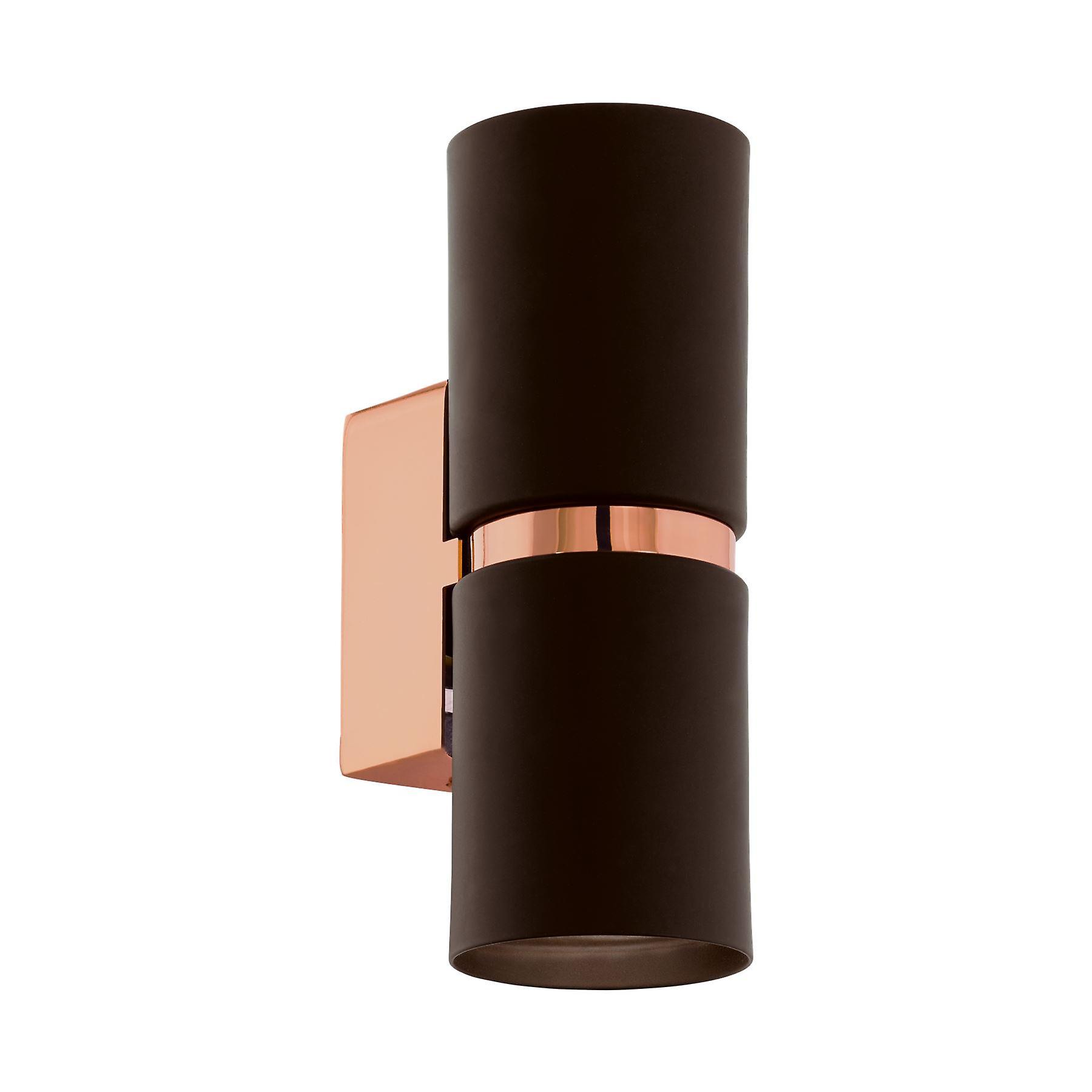 Eglo - Passa Tubular LED Wall Up Down Spot lumière marron & Copper EG95371