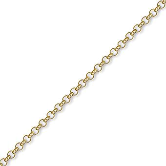 Jewelco London Unisex Solid 9ct Yellow Gold Round Belcher 4.3mm Gauge Chain Necklace